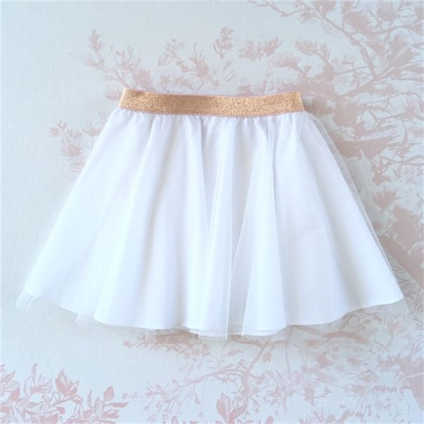 JUPE BLANCHE FILLE MARIAGE