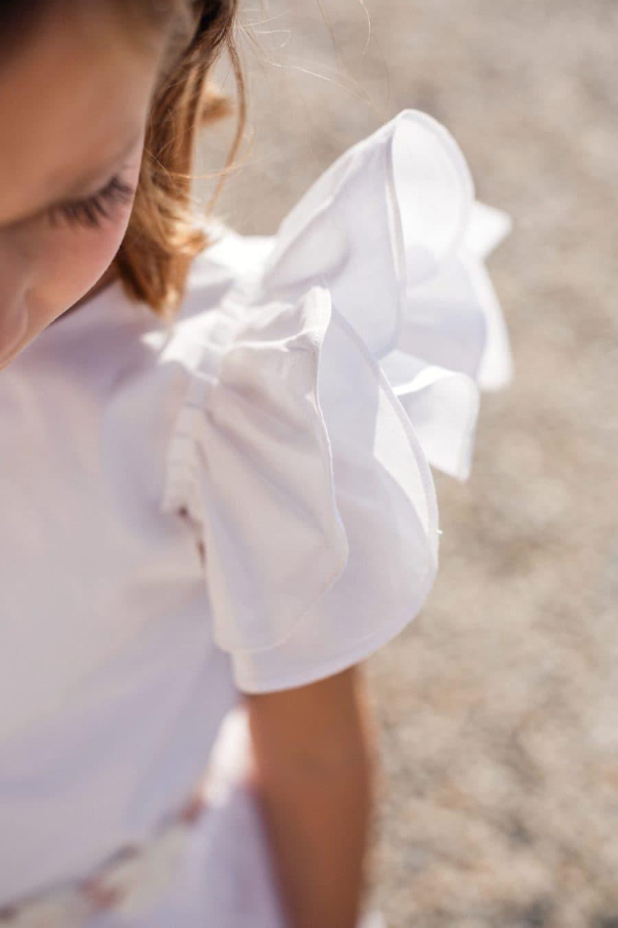 Robe de cérémonie à volants pour demoiselle d'honneur