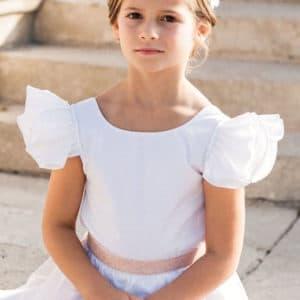 ensemble blanc tenue de mariage pour fillette