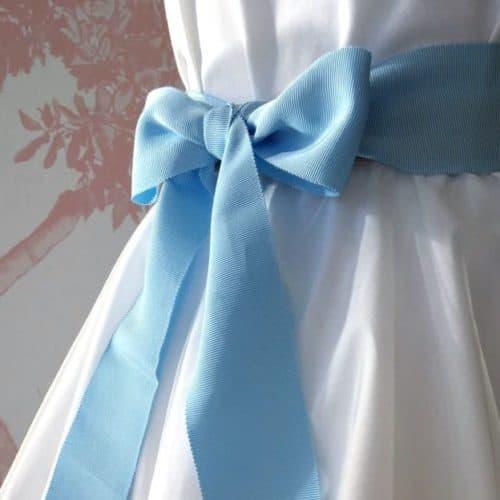 Ceinture de cérémonie noeud bleu ciel