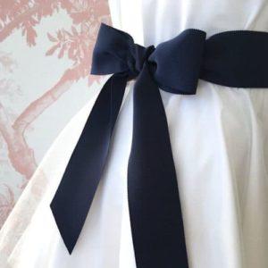 Ceinture de cérémonie noeud bleu marine