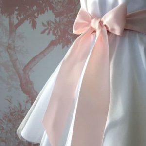 Ceinture de cérémonie noeud rose pâle