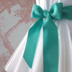 Ceinture de cérémonie noeud vert d'eau