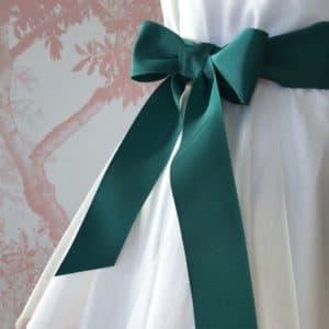 Ceinture de cérémonie noeud vert émeraude
