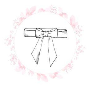Croquis noir et blanc ceinture de cortège à personnaliser