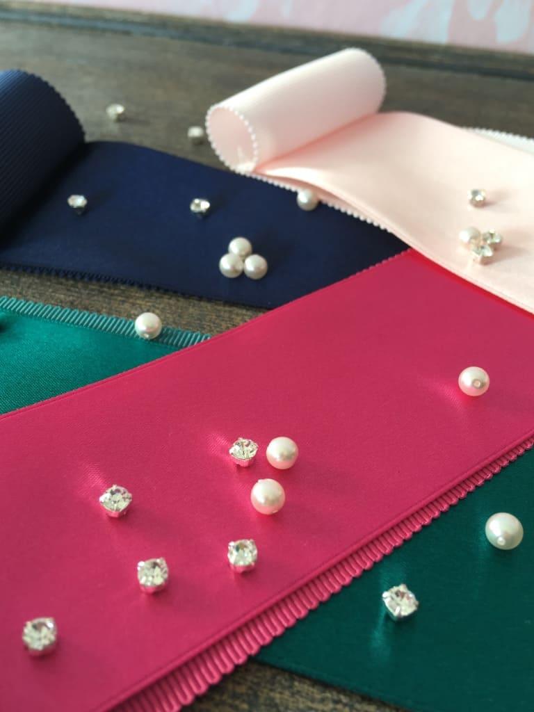 Ceintures de cortège avec perles et strass