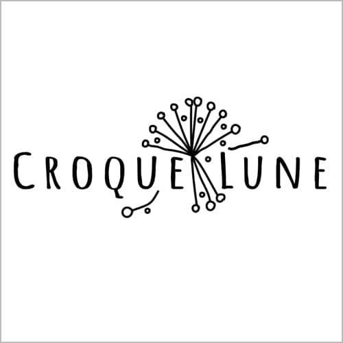Logo Croquelune boutique de mariée Bordeaux