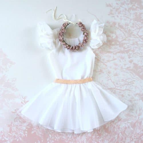 Robe blanche pour petite fille d'honneur