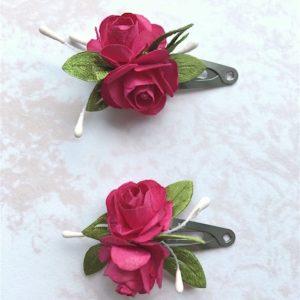 Lot de deux barrette roses fille Maison ème