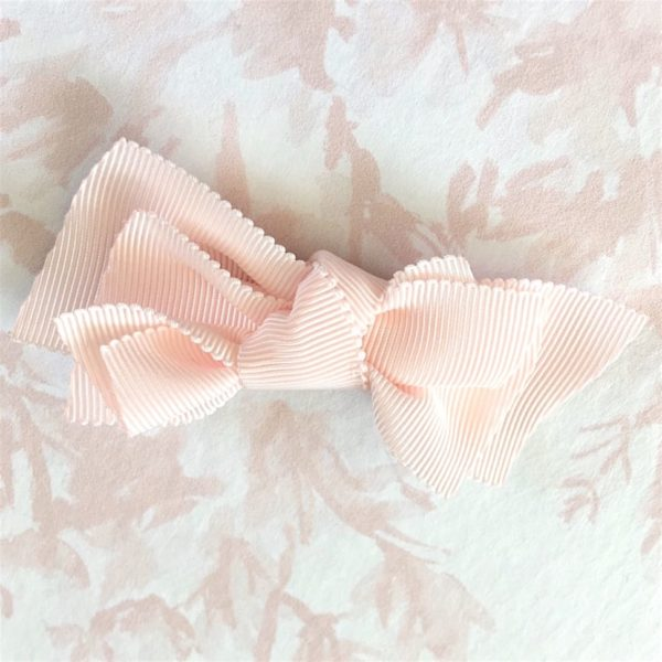 BARRETTE FILLE NOEUD ROSE