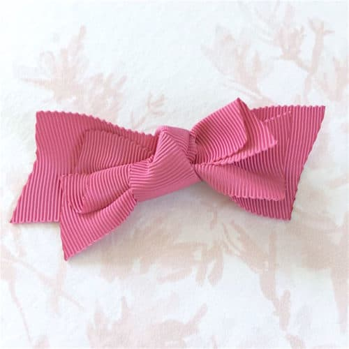 barrette rose fuchsia fillette
