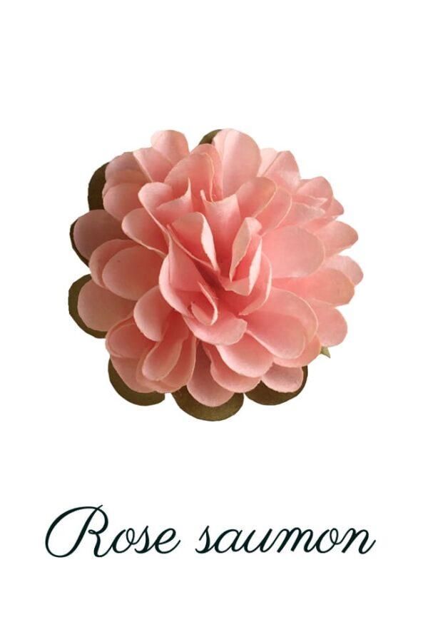 Dhalia en papier rose saumon copie