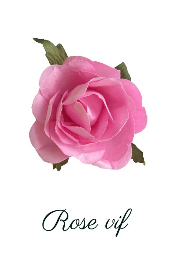 Rose en papier rose vif copie