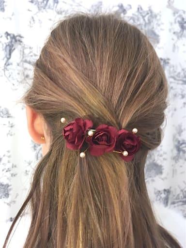 barrette-fille-fleurs-perles