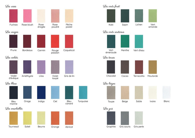 Gamme de couleurs complète MAISON ÈME