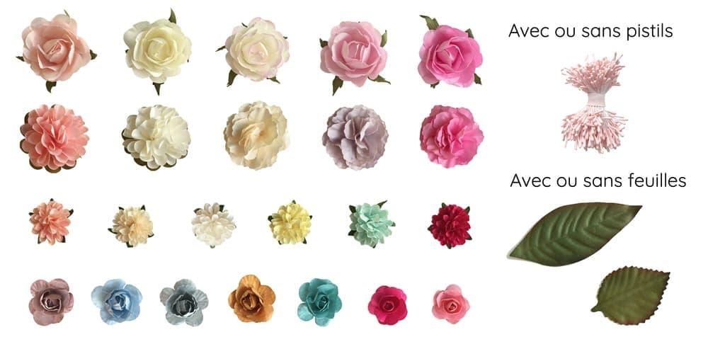 Gamme de fleurs couronnes sur-mesure MAISON ÈME