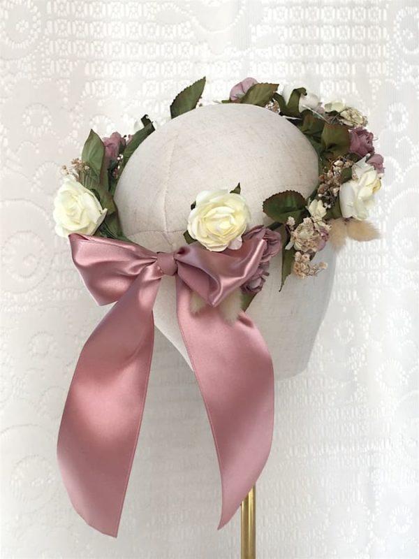 couronne-de-fleurs-rose-mariee