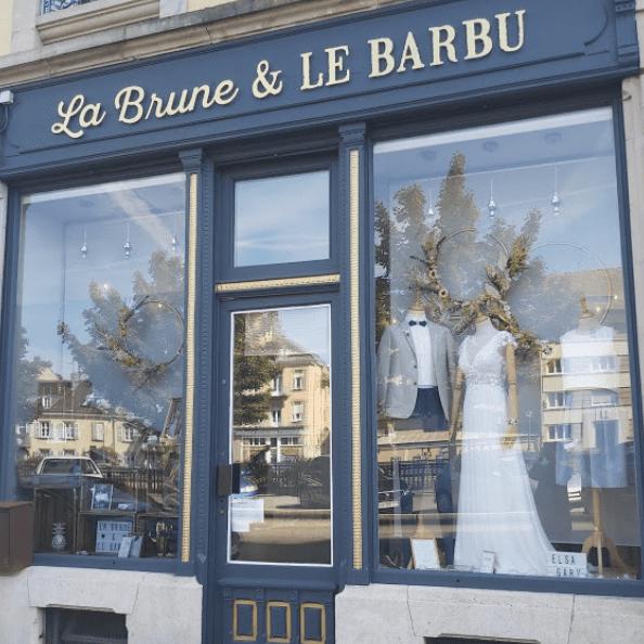 vitrine boutique mariage la brune et le barbu