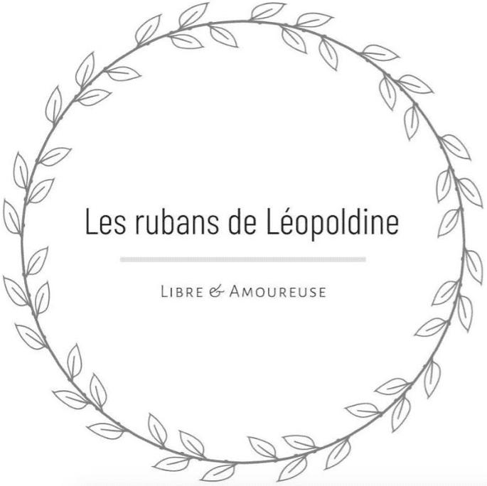 logo showroom mariage les rubans de leopoldine